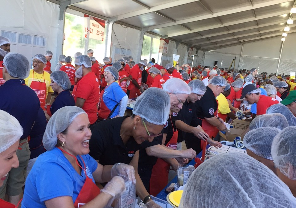 Package 1.5M Meals with Outreach and AARP on 9/11 & 12 in DC!